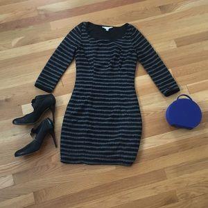 Black and Grey Body Con Dress XS